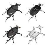 Ściga jest chrząszczowatym insektem ilustracja wektor