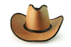 Ścinek ścieżki, kowbojski kapelusz odizolowywający na białym tle Fotografia Royalty Free