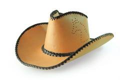 Ścinek ścieżki, kowbojski kapelusz odizolowywający na białym tle Obrazy Royalty Free