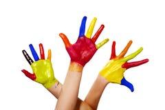 ścinek ręki malowali ścieżkę trzy Zdjęcie Stock