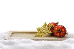 ścinku dekoraci rogaczy odosobniony ścieżki czerwieni xmas Zdjęcie Royalty Free