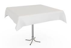 ścinku płótno odizolowywający ścieżki stołu biel ilustracja wektor