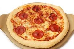 ścinku podobieństwo ścieżki odseparowana pizza pepperoni Obrazy Royalty Free