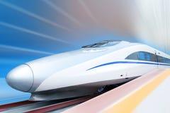 ścinku wysoki ścieżki prędkości pociąg Zdjęcie Stock