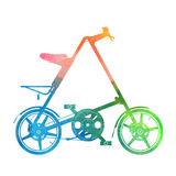 Ścisła rower akwareli sylwetka royalty ilustracja