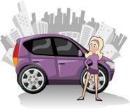 ścisłe samochód purpury Obrazy Stock