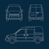 Ścisły doręczeniowy samochód dostawczy Ilustracji