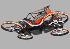 Ścisły pojedynczy quadrocopter dla intymnego use Mały miastowy pojazd z elektrycznym silnikiem royalty ilustracja