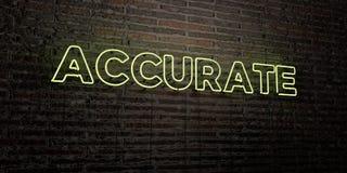 ŚCISŁY - Realistyczny Neonowy znak na ściana z cegieł tle - 3D odpłacający się królewskość bezpłatny akcyjny wizerunek royalty ilustracja