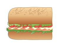 Ściska przekąskę z salami mięsem na białym tle Obraz Royalty Free