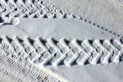 Ślad koła na zima drodze Zdjęcie Stock