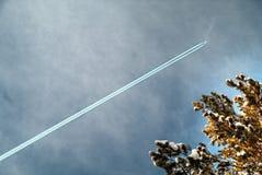 Ślad lotniczy samolot wewnątrz obraz stock