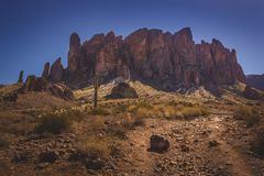 Ślad przesąd góry Zdjęcie Royalty Free