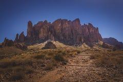 Ślad przesąd góry Fotografia Royalty Free