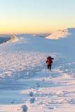 Ślad w śniegu Obraz Stock
