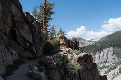 Ślad wzdłuż falezy w sekwoja parku narodowym zdjęcia royalty free