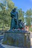 Ślada Żydowski Warszawa, Korczak pomnik - Obrazy Royalty Free