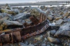 Ślada na plaży 1 Zdjęcie Royalty Free