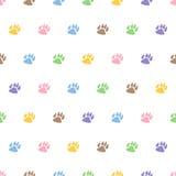 Ślada psi bezszwowy deseniowy tło Zdjęcia Royalty Free