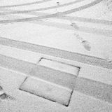 Ślada w śniegu Obrazy Stock