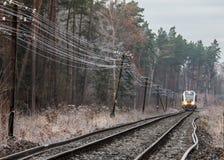 śladu kolejowy pociąg zdjęcia royalty free