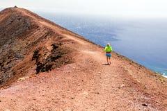 Śladu przecinającego kraju bieg w górach Fotografia Royalty Free