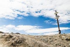 Śladu znak na Wysokim Inspiruje przełęczu zdjęcie stock