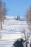 ślady narciarskich Fotografia Royalty Free