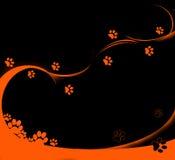 ślady pomarańczowe Zdjęcie Stock