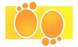 ślady stóp pomarańczowe Obraz Royalty Free