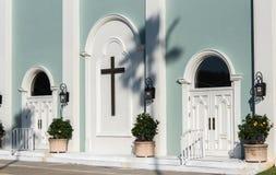 Śledzony Frontowy wejście kościół chrześcijański zdjęcia royalty free