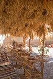 Śledzony taras w afrykańskiej pustynnej wiosce zdjęcie stock
