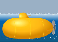 Śliczna łódź podwodna Zdjęcia Royalty Free