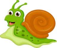 Śliczna ślimaczek kreskówka dla ciebie projektuje Fotografia Stock