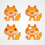 Śliczna śmieszna kreskówki wiewiórka również zwrócić corel ilustracji wektora Fotografia Royalty Free