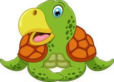 Śliczna żółw kreskówka Zdjęcia Royalty Free