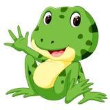 Śliczna żaby kreskówka Obrazy Royalty Free
