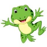 Śliczna żaby kreskówka Zdjęcia Stock