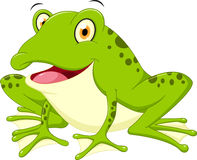 Śliczna żaby kreskówka Fotografia Stock