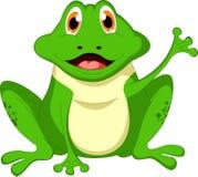 Śliczna żaby kreskówka Zdjęcie Stock