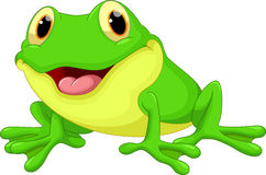 Śliczna żaby kreskówka ilustracji