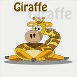 Śliczna żyrafa na białym tle również zwrócić corel ilustracji wektora Zdjęcie Stock