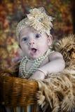 Śliczna 3 miesięcy stara dziewczynka zdjęcia stock