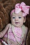 Śliczna 3 miesięcy stara dziewczynka fotografia royalty free