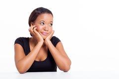 Śliczna afro amerykańska kobieta Obrazy Stock