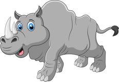 Śliczna artoon nosorożec Zdjęcia Royalty Free