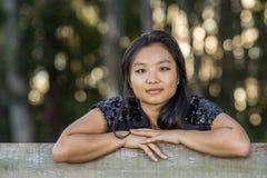Śliczna Azjatycka Dziewczyna Obraz Royalty Free