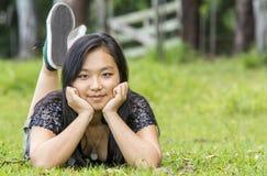 Śliczna Azjatycka Dziewczyna Obraz Stock