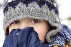 Pierwszy śnieżny podniecenie Zdjęcia Royalty Free