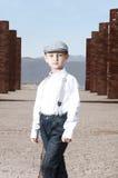 Śliczna chłopiec pozuje outdoors Obraz Royalty Free